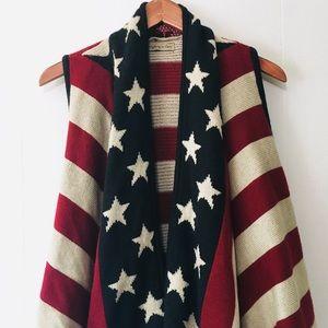 • sleeveless patriotic sweater vest •